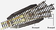 Ho Scale Trains Roco 3 Way Brass Remote Turnout Switch