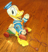 Vintage Fisher Price Donald Duck Pull Toy - 765
