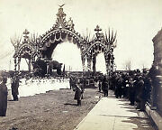 8x10 Photo Arch At Twelfth St., Chicago, President Abraham Lincoln's Hearse-1865