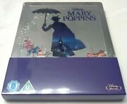 Disney's Mary Poppins Embossed Steelbook Blu-ray, Uk Sold Out Region Free