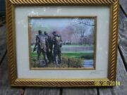 Vietnam Veteranand039s Memorial Statue Picture Photo Signed Numbered 20/250