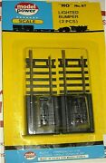 Ho Scale Trains Model Power Brass Lighted Bumper Track 2 Pcs