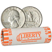90 Silver Quarters - Roll Of 40 - 10 Face Value