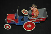 Dippy Dumper Wind-up Vintage Tin Toy Working - Marx Toys 1930s Itb Wh