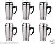 Lot 6 X Stainless Steel Insulated Double Wall Travel Coffee Mug Cup 15 Oz New