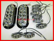 Trailer Truck Clear Led Light Kit Clear Lens Optronics Stop Turn Tail Marker