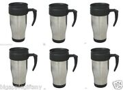 Lot 6 X Stainless Steel Insulated Double Wall Travel Coffee Mug Cup 14 Oz New