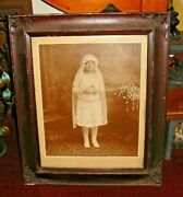 Antique Victorian Photograph Of Young Girl At Communion Roselle Park Nj Italian
