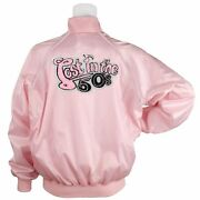 Lost In The Fifties Stylized Chenille Pink Satin Jacket Car Sow