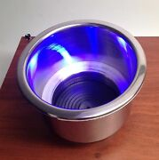 Pactrade Marine Boat Rv Truck S.s. Led Blue Cup Drink Holder 1/4 Drain Tube