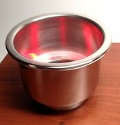 Pactrade Marine Boat Rv Camper Red Led S.s. Cup Drink Holder With Drain Tube
