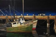 Provincetown Original Painting On Canvas A Fishing Story By Tim Wood