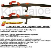 Two 2 Super Clamp Ii Front Snowmobile Trailer Tie Down Systems 1000 Sc-front