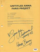 Sara Jean Underwood Signed Personally Owned House Bunny Filming Schedule Psa/dna