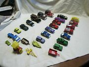 Vintage Tootsietoy Toy Car Truck Trailer Train Lot - 29pc  Look