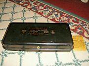 Vintage Larry Reedy And Sons Metal Lock Box Illinois Real Estate Insurance Rare