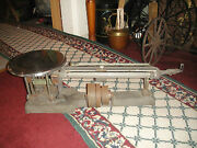 Antique Ohaus Stainless Triple Beam Scale 20kg Model 119s Industrial Scale