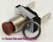 Marine Boat Rv Spst Panel Mount Momentary On Red Push Button Horn Switch 11701