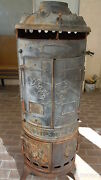 Reduced Antique Pittsburg Rare Cast Iron Water Heater Shell,,lion-heads 4 Door,