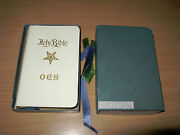 Vintage 1941 Holman Order Eastern Star Masonic Holy Bible And Box Roster