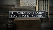 Custom Family Cabin Name Sign - Rustic Hand Made Distressed Wooden