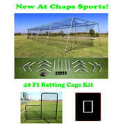 55ft X 12ft X 12ft Portable Backyard Batting Cage Kit For A Pitching Machine