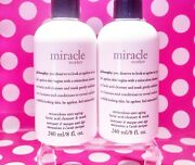 Philosophy Miracle Worker Cleanser Duo 16 Oz Total 8oz X's 2  Brand New
