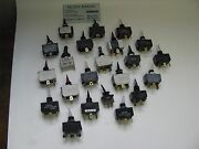 Lot Of 22 Toggle Switches All Varieties Some Illuminated Variety Of Switches