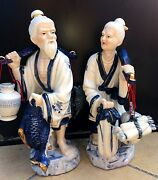 Fine Chinese Ceramic - Couple Porcelain Statues/figurines
