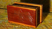 Antique American Red Cedar Wood Hand Carved Eagle Jewerly,storage Box