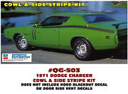 Qg-503 1971 Dodge Charger - Hood Cowl And Side Stripe Kit - Decal