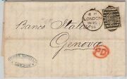Gb - Postal History Sg 125 Plate 12 On Cover From London To Italy 1874
