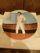 1991 Elvis Presley Collectors Plate Going For The Blackbelt Looking At A Legend