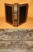 Original Double Fore-edge Painting 1822 Sir Walter Scott Kenilworth Full Leather