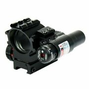 Holographic Red / Green 4 Reticles Reflex Dot Scope + Laser Scope Combo