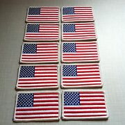 10 United States Flag Patch With Velcroandreg Brand Fastener Usa Military Tactical 1