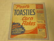 1940 Post Toasties Corn Flakes Complete Box Thrilling Mysteries Back