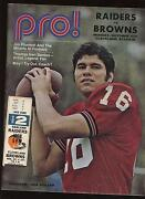 October 4th 1971 Nfl Oakland Raiders And Cleveland Browns Program + Ticket Stub