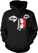 Lego No - 80and039s Toys Funny Sayings Slogans Hoodie Pullover