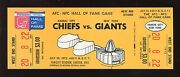 July 29 1972 Nfl Hall Of Fame Game Full Ticket Kc Chiefs Vs New York Giants Exmt