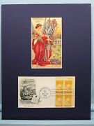 Honoring Memorial Day And Gold Star Mothers And 1948 Stamp First Day Cover