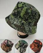 72 Lot Camouflage Hardwood Leafy Tree Camo Bucket Hats For Fishing And Hunting