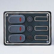 Pactrade Marine Boat 3 Gang Splash Proof Switch Panel With Led Odm
