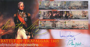 2005 Trafalgar Stamps - Scott Offficial - Signed By Ian Fraser Vc And Alan West