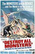 Destroy All Monsters - 1968 - Movie Poster