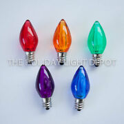 Box Of 25 C7 Multi-color Led Christmas Light Bulb Smooth Led Retro Fit Dimmable