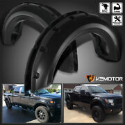 Fits 2009-2014 Ford F150 Black Pocket Rivet Style Wheel Fender Flares Cover 4pc