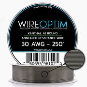 30 Gauge Awg Kanthal A1 Wire 250and039 Length - Ka1 Wire 30g Ga 0.254 Mm 250 Ft