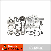 High Performance Timing Chain Kit Oil Pump Timing Cover For 85-95 Toyota 2.4 22r
