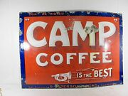 Camp Coffee Scottish Enamel Advertising Sign C 1920and039s
